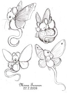 Fairy-mouse sketches by ~Amarathimi on deviantART