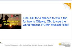 RCMP Foundation Sweepstakes