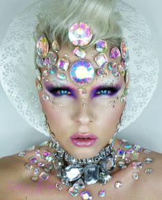 Beautiful artistic make-up - Fx MakeUp & Costume - # küns . - New Ideas Make Up Looks, Hd Make Up, How To Make, Makeup Art, Beauty Makeup, Eye Makeup, Hair Makeup, Hair Beauty, Fish Makeup