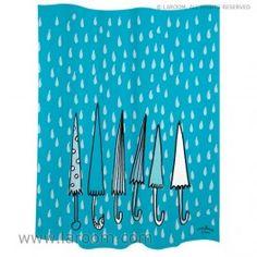 """Laroom - Cortina baño """"paraguas"""" azul polyester - Laroom diseña los productos para Baño más bonitos del mundo - www.laroom.com Sweet Home, Curtains, Shower, Prints, Painting, Design, Anna, The World, Funny Bathroom"""