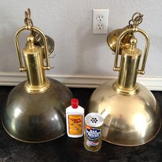 Bar Keepers Friend on copper and brass. It will remove the built up tarnish. Clean Gold Jewelry, Keep Jewelry, Bar Keepers Friend, Tarnish Remover, Clean And Shiny, Copper And Brass, Jewellery Storage, Cleaning Hacks, Keep It Cleaner