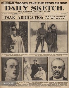 2 March 1917. The first Russian Revolution began when Tsar Nicholas II abdicated and a Provisional government was soon established.