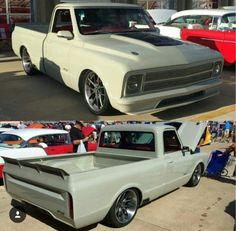 Air dam integrated in bumper 67 72 Chevy Truck, Classic Chevy Trucks, Chevy C10, Chevy Pickups, Chevrolet Trucks, Classic Cars, Lowered Trucks, C10 Trucks, Pickup Trucks