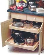 handicap accessible kitchen draws