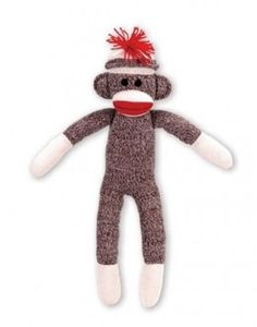 Sock Monkey Pattern and Video Instructions Sock Monkey Pattern, Sock Monkey Baby, Sock Monkey Birthday, Monkey Birthday Parties, Monkey Doll, Monkey Monkey, Sock Monkey Halloween Costume, Sock Monkey Costumes, Couples Christmas Ornament