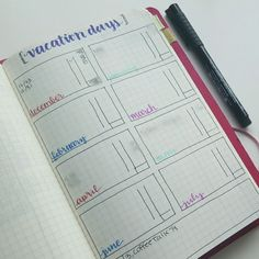 A bullet journal collection to map out your vacation days // @prettyprintsandpaper