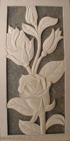 cuadros de girasoles tallados en madera - Buscar con Google: