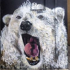 Work by Louis Masai in Camden Town, with support from The Real Art of Street Art.