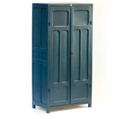 armoire d 39 cole en gris tourterelle et bleu nuit l. Black Bedroom Furniture Sets. Home Design Ideas