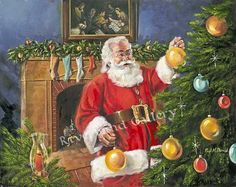 Picture Christmas Shows, Christmas Scenes, Father Christmas, Santa Christmas, Christmas Pictures, Christmas Time, Christmas Ideas, Santa Paintings, Christmas Paintings