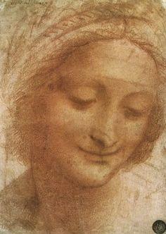 Leonardo Da Vinci sketch of St. Anne 1500