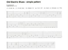 Old Electric Blues style guitar pattern - easy to learn - tab included