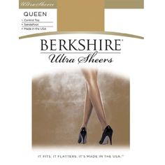 Berkshire Womens PlusSize Queen Ultra Sheer Control Top Pantyhose 4411 Fantasy Black 1X2X -- Check out the image by visiting the link.Note:It is affiliate link to Amazon.