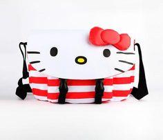 Hello Kitty Messenger Bag: Red Stripe -- Cool!!!!