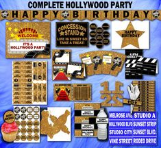 Hollywood Party Hollywood Birthday Hollywood Party