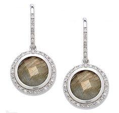 Kristian Alfonso Diamond & Labradorite Sterling Silver Earrings