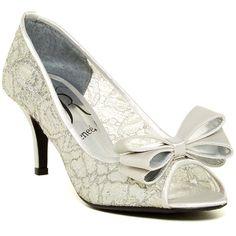 J. Renee Kaylee Peep Toe Pump ($50) ❤ liked on Polyvore featuring shoes, pumps, pull on shoes, j renee shoes, high heel shoes, lace peep toe shoes and peeptoe pumps