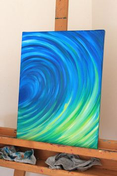 Original Oil Painting of Mermaids, ocean, water, waves 12 x 16. $235.00, via Etsy.