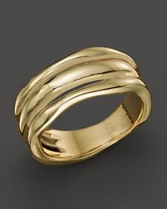 IPPOLITA 18K Gold Glamazon Triple Band Squiggle Ring