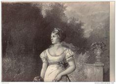 """Königin Luise und Prinz Wilhelm - Druck, entnommen  aus """"die Gartenlaube"""", 1897"""