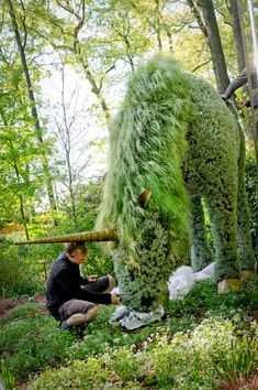 Plant sculpture at Atlanta Botanical Garden.