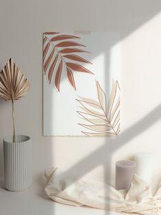 Small Canvas Art, Diy Canvas Art, Painting Canvas, Minimal Art, Kunst Poster, Diy Décoration, Home Decor Wall Art, Diy Art, Diy Wall Art