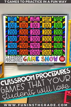 Classroom procedures can be boring to teach for both you and your students. This post is full of fun and engaging games that will make want to practice these very important classroom rules. The more you practice the procedures in fun and engaging ways the more smoothly it will go on a daily basis!