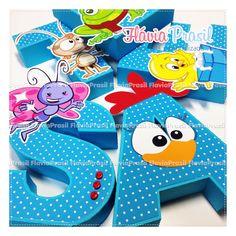 letras decorativas 3D Galinha Pintadinha