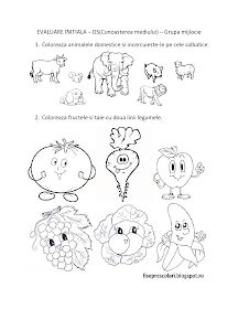 Fise de lucru - gradinita: FISE de evaluare initiala - DS - Cunoasterea mediului - Grupa mijlocie Farm Animals Preschool, Kindergarten Worksheets, Worksheets For Kids, Preschool Activities, Wine Cork Crafts, Paper Trail, Design Case, Cross Stitch Embroidery, Little Boys