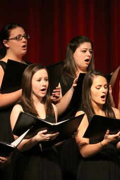 The A Cappella Choir sings during the 2011 Christmas concert.
