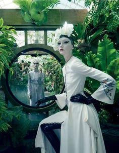 "Dreaming of Dior ""Fashion in Full Bloom"" Alexa Yudina and Nora Vai for Mojeh #26 April 2015"