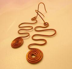 Orecchini handmade in rame con spirale #earrings #accesories Washer Necklace, Earrings, Jewelry, Ear Rings, Stud Earrings, Jewlery, Bijoux, Jewerly, Ear Piercings