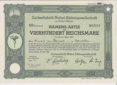 Zuckerfabrik Nakel AG / 400 RM, Nakel 1942