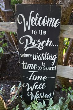 Barn Board Porch Sign, Rustic Porch Sign, Farmhouse Decor, Country Chic Decor, Welcome to the Porch, Painted Wooden Sign