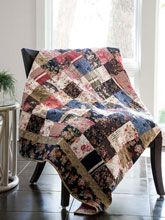 All you need is a charm pack to sew this quilt. Short straight seams to sew the squares together, and long seams to add the border. You're quilting!