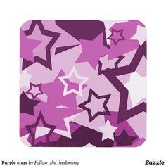 Purple stars coaster
