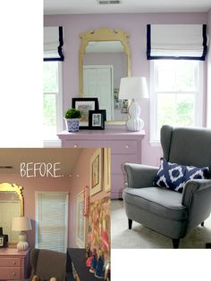 What a difference new window treatments make!