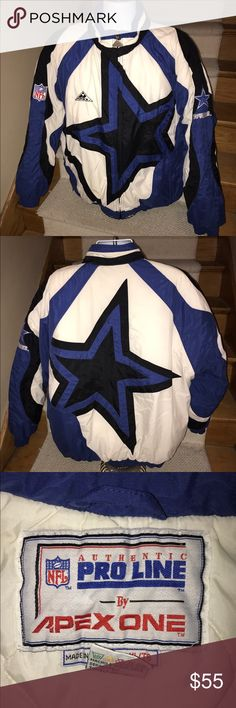 Rare NFL *Dallas Cowboys* Apex One jacket men's XL Rare vintage Apex One NFL Dallas Cowboys men's insulated jacket that is sized XL.  Gently used condition.  No holes, stains or issues - hood is not included.  A terrific find from years ago. Apex One Jackets & Coats