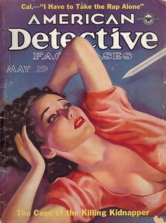 Writhe while the shiv comes closer.  American Detective Fact Cases, May 1937