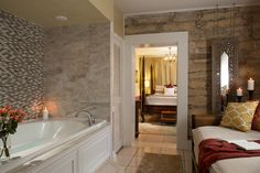 The luxurious Coquina Suite at our St. Augustine bed and breakfast offers the perfect amenities for a romantic getaway!