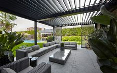 open villa -Luxe, open villa - Among all the plain pergola porch designs available online, we found some pearls, some unique pergola designs to inspire you. For more like this go to Our patio covers are perfect for every season! Pergola Ideas For Patio, Outdoor Pergola, Backyard Pergola, Pergola Kits, Gazebo, Outdoor Decor, Pergola Designs, Patio Design, Garden Design