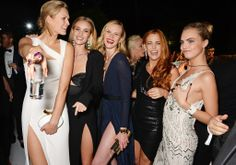 Toni Garrn, Rosie Huntington-Whiteley, Anne V, Riley Keough, and Cara Delevingne took an epic group photo #cannes