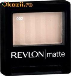Fard Revlon Matte Eyeshadow, diverse culori - 15RON  Fard Revlon Matte Eyeshadow, calitate superioara, Made in USA. CONTINE SI APLICATOR.   http://www.okazii.ro/make-up/farduri/fard-revlon-matte-eyeshadow-diverse-culori-a112604778