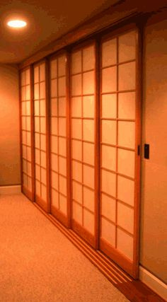 Good shoji door info - inset handles and kick board at the bottom