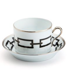 Richard Ginori Catene black tea cup saucer bone china tableware harlequin london