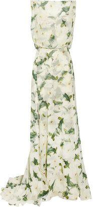 ShopStyle: Erdem Bianca floral-print silk-chiffon gown