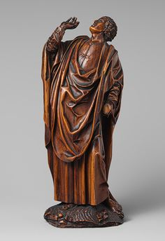 Saint John: One of a Pair of Figures from a Crucifixion, ca. 1560 Flemish Boxwood