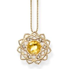 The #THOMASSABO Manipura solar plexus chakra is modelled on the ten-petalled lotus flower and symbolises willpower and power. And the miniature version is crafted from 18k yellow gold and embellished with yellow quartz and white #diamonds.