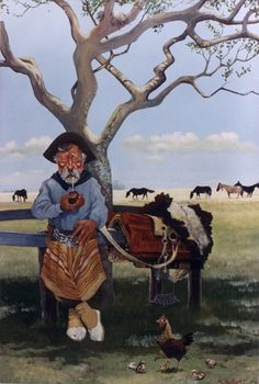 """CM - """"DE LAYA SENCILLA"""" Gaucho, Rio Grande Do Sul, Folklore, Cartoon, Painting, David, Country Man, Caricatures, Drawings"""