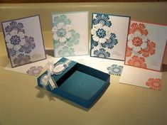 Mixed Bunch stamp set.  Can demonstrate how to make boxes and show off several new colors.  Don't forget to stamp the envelopes to go with!